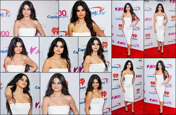 11.12.2015 ─ Selena Gomez était présente à l'événement «Z100 Jingle Ball » au Madison Square Garden dans NY.Selena G. est apparu en compagnie de Zedd ! Et a interpréter le titre I want you to know... Un très jolie top pour la brunette pour moi. Donne ton avis.