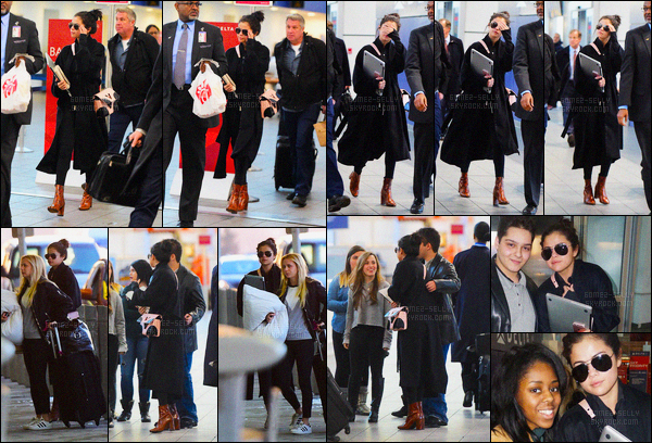 25/01/2016 : Selena Gomez a été photographiée arrivant à l'aéroport «Laguardia», qui se situe dans New York. A cause de la neige, Sel est parti plus tard que prévue, d'après certains elle s'envole pour Dallas et d'autre pour Park City pour le festival Sundance.