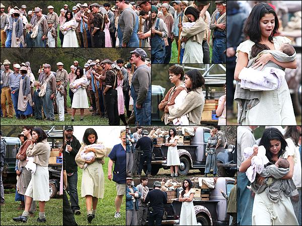 - 25/03/15 : Selena Gomez tournait des scènes pour le film « In Dubious Battle » à Bostwick en Géorgie (USA).   Le tournage du film est bien commencé, le long métrage étant inspiré d'un livre. Sur le tournage on dit que Selena est très attentionné avec le bébé. -