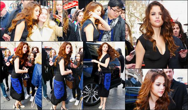 11.03.16 ─ Selena Gomez a été photographiée arrivant puis quittant les studios de Capital FM étant dans Londres.Selena G. s'est encore une nouvelle fois changée, à croire qu'elle emmène son dressing dans les studios de radio ! Je préfère cette tenue, c'est un top