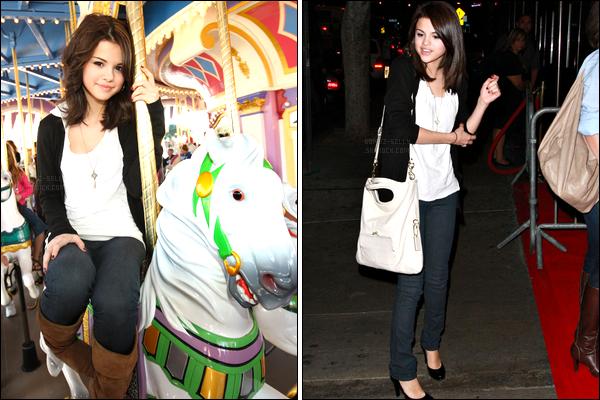 16.11.08 ─ Selena Gomez était présente au parc d'attraction « Disney World Park », qui se situe dans la Floride.Nous avons malheureusement qu'une seule photo de l'événement. Deux jours auparavant, la belle a été vue quittant le concert des Jonas Brothers.