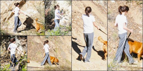 11.01.09 ─ Selena Gomez a été photographiée alors qu'elle promenait ses chiens se situant dans Los Angeles, CA.Nous avons très peu de photos malheureusement de la belle lors de la sortie... Concernant sa tenue, Selena Gomez n'a pas du enlever son pyjama...