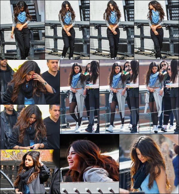 11/03/14 - Selena Gomez a  été aperçue alors qu'elle était en photoshoot pour Adidas NEO dans New-York C.Sur les clichés nous pouvons apercevoir de nouvelles tenues pour la nouvelle collection, j'aime beaucoup pour ma part. Et vous, dites moi vos avis !