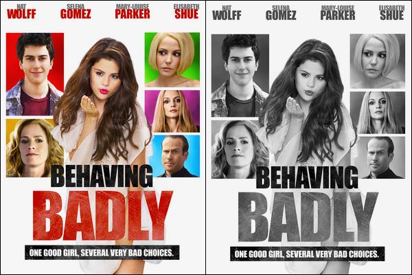 Découvrez une nouvelle affiche pour « Behaving Badly » où Selena G. joue !