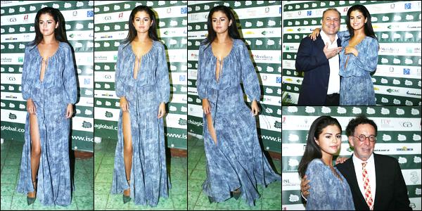 16/07/14 - Selena Gomez a était présente au « Ischia Global Film and Music Festival », sur l'île Ischia, Italie.Lors de cet évènement Selena était vraiment magnifique je trouve. Concernant la tenue, c'est un très beau top également, j'adore. Vous vos avis?