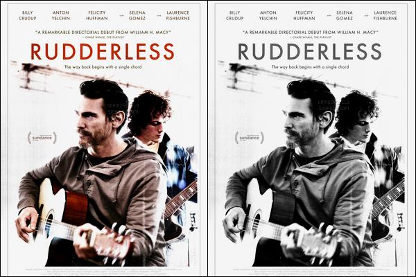 Découvrez l'affiche officiel de son prochain film Rudderless de Selena Gomez.