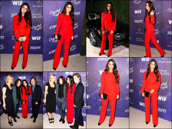 23/08/14 - Selena Gomez était présente, lors du Variety and Women in Film, étant, dans le West Hollywood.Selena G. était accompagnée du cast de Rudderless. Concernant sa tenue, j'aime beaucoup sa combinaison rouge, mais trop simple pour un event...