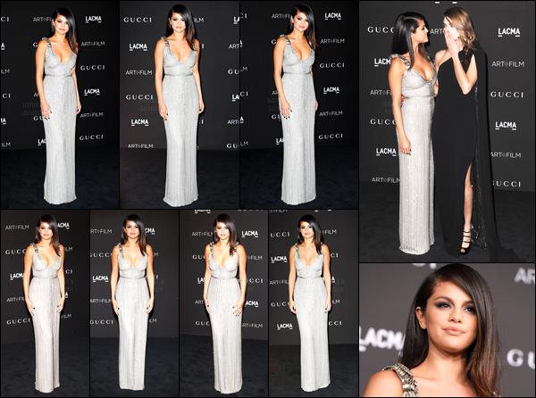 01.11.14 ─ Selena Gomez était présente lors de la cérémonie LACMA Art/Film Gala, étant dans Los Angeles, CA.Notre belle princesse été accompagnée de Cara Delevingne... Concernant sa tenue, c'est un très beau top de ma part, ainsi que sa coiffure ! Gros top.