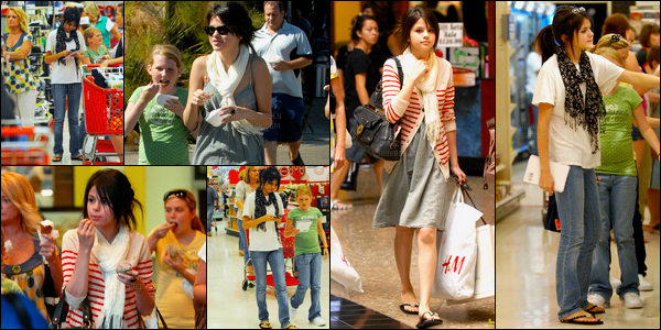 09.08.08 ─ Selena Gomez était présente au 16e anniversaire de Cole et Dylan Sprouse, étant dans Los Angeles.Longue journée pour notre brunette, puisqu'elle s'est ensuite rendue plutôt chez Keri Levitt et a été photographiée faisant du shopping avec ces amis