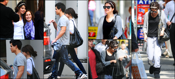 11.05.09 ─ Selena Gomez a été aperçue pendant qu'elle arrivait à son hôtel, avec Taylor Lautner, dans Vancouver.Selena G a ensuite été photographiée, dans une tenue très décontractée, et un flop, avec son cousin dans les rues de Vancouver. Sa 1er tenue est top