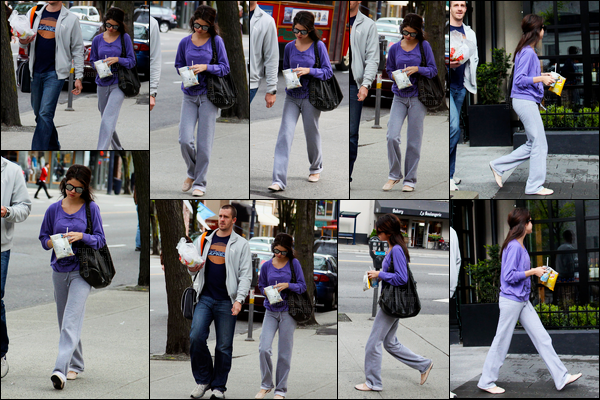 14.05.09 ─ Selena Gomez a été photographiée, pendant, qu'elle quittait un subway, se situant, dans Vancouver.Selena été accompagnée de son beau-père, Bryan. Puis plus tard, elle a été vue sur le set de Ramona and Beezus. Ses tenues ne sont pas des top.