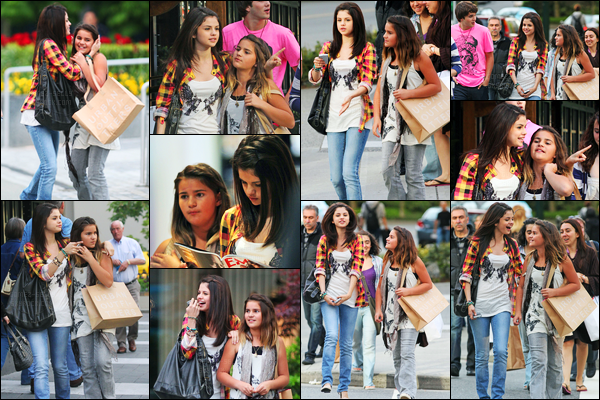 17.05.09 ─ Selena Gomez a été photographiée, pendant, qu'elle faisait du shopping, dans la ville dans Vancouver.C'est accompagnée de la soeur de Taylor Lautner que la belle a été photographiée. Top ! Six jours après, Selena a été vue quittant le Sushi Dan, flop.