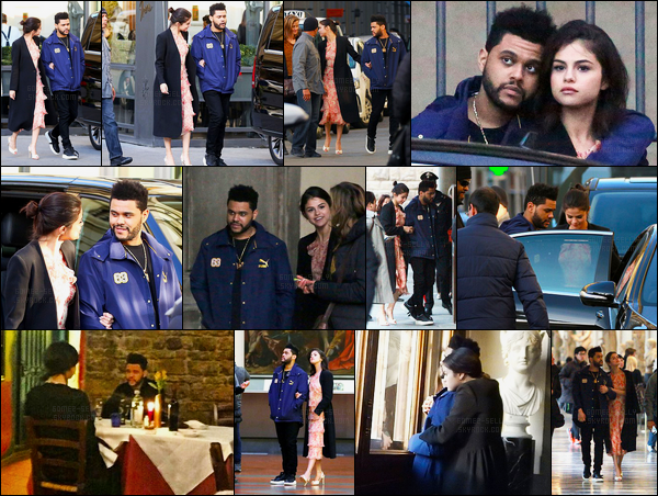 27.01.2017 ─ Selena Gomez a été photographiée alors qu'elle était à l'Accademia Gallery Museum dans Florence.Selena et son nouveau boyfriend sont donc en Italie, en amoureux. Ils ont été visité un musée puis se sont rendue dans un restaurant. C'est un bof !