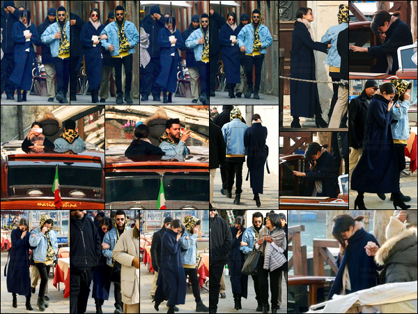 30.01.2017 ─ Selena Gomez a été photographiée alors qu'elle se promenait, dans les rues dans Venise, en Italie.Le jeune couple enchaîne les sorties en ce moment, Selena a aussi posée avec ces fans. Concernant sa tenue, on ne voit rien, je peut donc rien dire...
