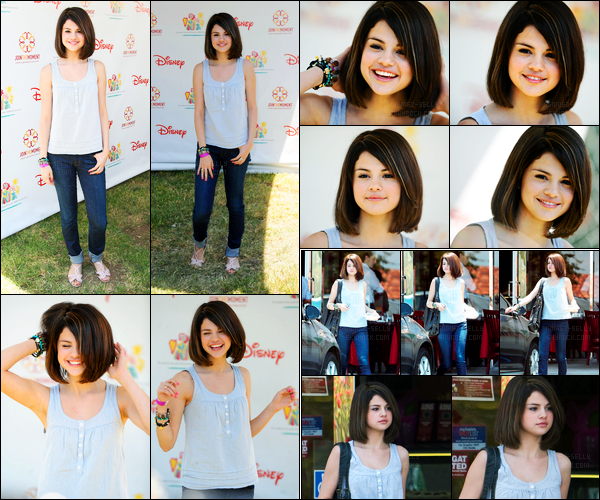 07.06.09 ─ Selena Gomez était présente lors du célèbre « Time for heroes celebrity carnival » dans Los Angeles.Selena G été accompagnée de sa maman, Mandy Teefey. Selly a ensuite été photographiée quittant un coffee shop, café à la main. Sa tenue est top.