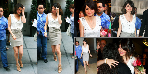 03.08.09 ─ Selena Gomez a été photographiée, pendant, qu'elle quittait des studios, étant, dans New-York City.Plus tard dans la journée, Selena a été photographiée quittant les studios de MTV.. Concernant sa tenue, c'est un gros top de ma part, et vos avis ?