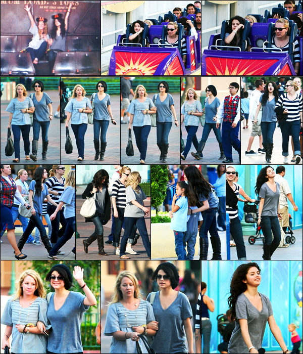 25.10.09 ─ Selena Gomez a été photographiée alors qu'elle était à Disneyland, avec ces amis, dans Los Angeles.Un peu de repos pour notre belle brunette, elle prend du bon temps avec ces amies ! Concernant sa tenue, c'est un petit top de ma part. Vos avis ?