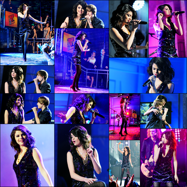 31.12.09 ─ Selena Gomez était présente lors du « Dick Clark's New Year's Rockin' Eve » étant dans New-York C.Selena G a performer son titre « More » et évidemment « Naturally »... Puis est devenue la One Less Lonely Girl de Justin Bieber ! Un très beau top !