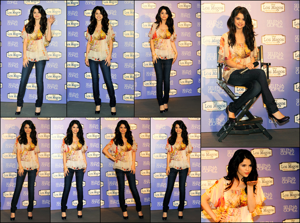 29.03.10 ─ Selena Gomez était présente pour présenter son album « Kiss And Tell », étant dans Madrid, Espagne.Selena G. reprend la promotion pour son premier album et c'est cette fois en Europe. Selena a ensuite été vue quittant les studios de Disney Channel..