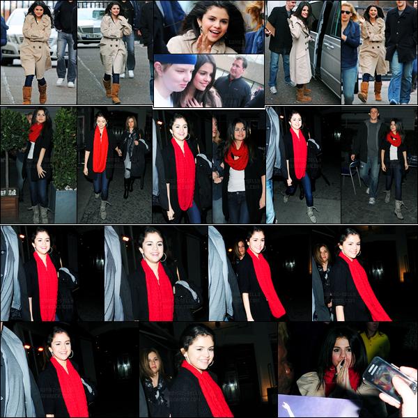 05.04.10 ─ Selena Gomez a été photographiée, alors, qu'elle arrivait à un studio, étant, dans Londres, Angleterre.Selena G. a quittée Paris, pour Londres pour continuer sa promotion. Elle a été vue arrivant et quittant Bluedird Cafe puis quittant Sheperd's Bush. Top