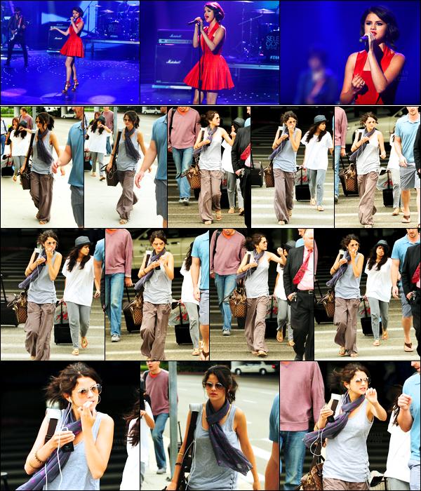 12.07.10 ─ Selena Gomez a été photographiée, alors, qu'elle arrivait à l'aéroport de LAX, dans Los Angeles, CA.La belle est donc de retour en Californie après des jours de tournages. Deux jours après la belle était à l'émission «America's Got Talent» ! Un top !