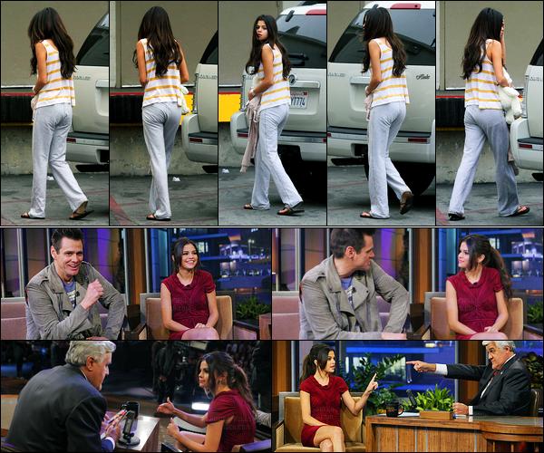 07.06.2011 ─ Selena Gomez a été photographiée, pendant, qu'elle arrivait à un centre médical, dans Los Angeles.Plus tard dans la journée, la belle s'est rendue à l'émission de Jay Leno. Concernant ses deux tenues, une est plus classe que l'autre, on demande pas