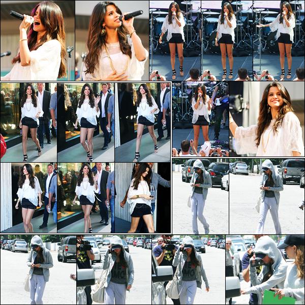 13.06.2011 ─ Selena Gomez était présente lors du « Monte Carlo Mall Tour », se déroulant, étant, à Santa Monica.Un peu plus tôt, la belle s'est rendue dans un centre médical puis a été vue arrivant au Mall Tour. Concernant sa tenue, c'est un beau top de ma part !