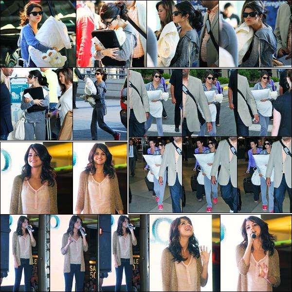 20.06.2011 ─ Selena Gomez était présente, lors, du « Monte Carlo Mall Tour », qui se déroulait, en Philadelphie !La belle brunette a été photographiée auparavant a l'aéroport de Toronto puis à son arrivée à l'aéroport de Philadelphie. Ses deux tenues, est un top !