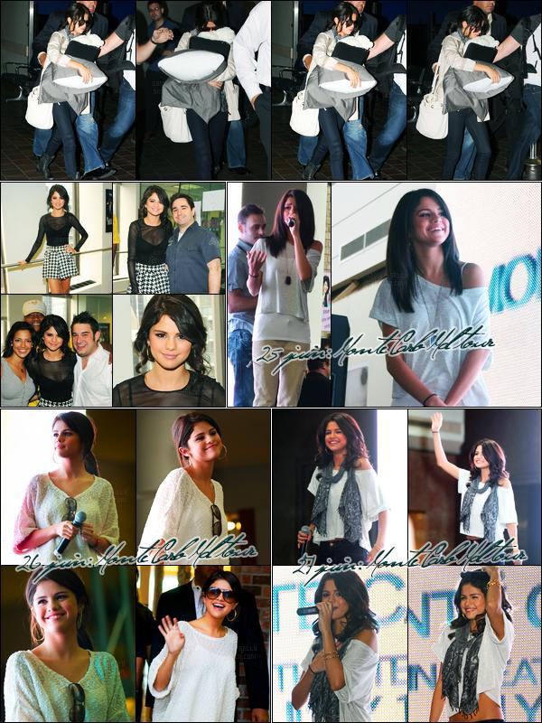 28.06.2011 ─ Selena Gomez a été photographiée alors qu'elle arrivait à l'aéroport de Laguardia, dans New-York.Un peu plus tard, la belle continue la promo de Monte Carlo puisqu'elle s'est rendue à la radio de SiriusXM. Je poste également les dernières news...