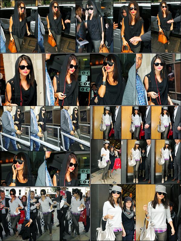 07.07.2011 ─ Selena Gomez a été photographiée alors qu'elle quittait son hôtel étant dans Londres en Angleterre.Un peu plus tard Selena a été aperçue quittant la Radio One puis le Century Club puis a finis par retourné à son hôtel. Concernant ses tenues, c'est top