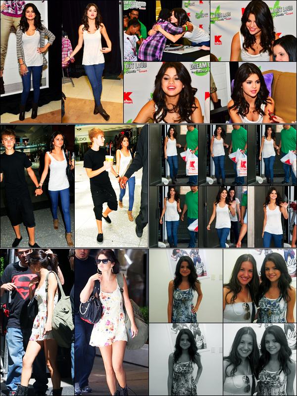 19.08.11 ─ Selena Gomez a été photographiée alors qu'elle quittait le magasin «K-Mart» étant dans Philadelphie.La belle était présente pour la marque de vêtement DOL. Un peu plus tard, elle a été photographiée avec Justin B. dans les rues. Sa tenue est un top !