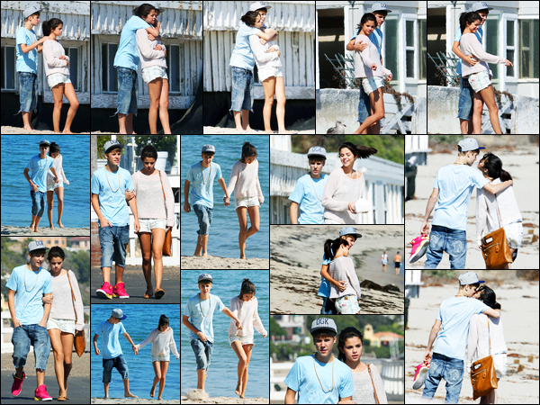 23.09.11 ─ Selena Gomez a été photographiée alors qu'elle était sur la  plage avec Justin Bieber étant dans Malibu.Les deux amoureux ont profité de leur temps libre pour se rendre à une plage privée dans Malibu. Concernant sa tenue, c'est un beau top de ma part !