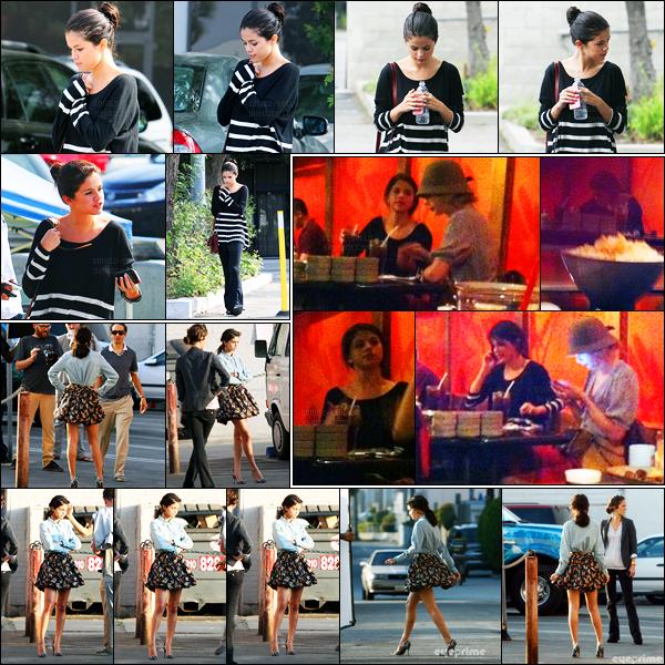 26.09.11 ─ Selena Gomez a été photographiée alors qu'elle quittait un centre médical étant dans Los Angeles CA.La belle Sel était accompagnée par sa mère ce jour-là. Plus tard, elle a été vue sur le set d'un photoshoot à Venice. Concernant sa tenue c'est un top !