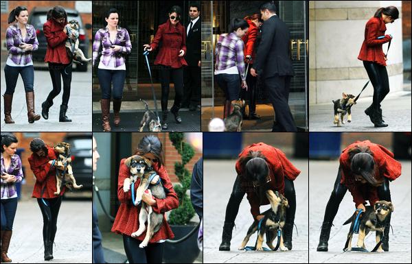 25.10.11 ─ Selena Gomez a été photographiée alors qu'elle était entrain de se promenait, étant dans Toronto, CA.La belle brunette S. était en compagnie de son nouveau petit chien, Baylor. Le lendemain, elle a de nouveau été dans les rues à Toronto. C'est un top.