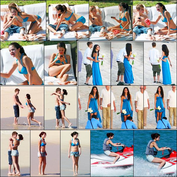 07.12.11 ─ Selena Gomez a été photographiée, alors, qu'elle était à la  piscine de son hôtel à Los Cabos, à Mexico.C'est évidemment en compagnie de son petit-ami, que la belle brune a été vue. Ensuite ils ont été vue à la plage. Concernant son maillot, c'est un top