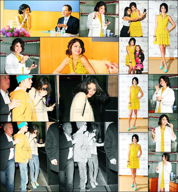 13.02.2012 ─ Selena Gomez était présente lors de la présentation de son nouveau parfum, étant, dans New-York.La belle a même fait la rencontre de quelques fans, et leur a fait sentir en avant-première son parfum. Plus tard, elle a été vue quittant son hôtel. Top