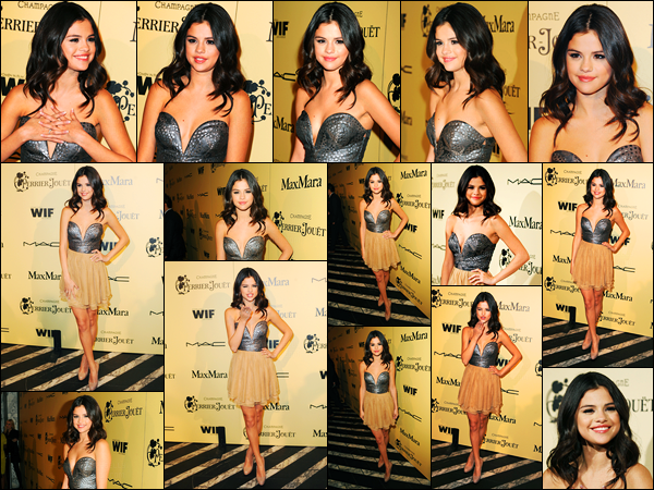 24.02.2012 ─ Selena Gomez était présente lors de l'événement des «Pre-Oscar Party Cocktail» dans Los Angeles.La belle Selena G. était accompagnée de sa mère, Mandy Teefey.. Concernant sa tenue, c'est un gros top de ma part personnellement. Et vous, avis ?