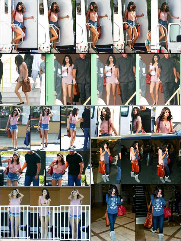 02.03.2012 ─ Selena Gomez a été photographiée, alors, qu'elle était sur le set de « Spring Breakers », en Floride.Sel a ensuite été photographiée quittant une clinique, quittant et revenant à son hôtel, puis S. a été vue à l'aéroport à Tampa et à Los Angeles. Top !