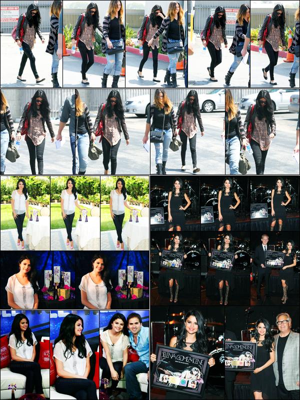 20.04.2012 ─ Selena Gomez a été photographiée, alors, qu'elle arrivait à l'aéroport étant dans Santa Monica, CA.La belle brunette Selena a enchaîner les interview dont la promotion de son parfum. Concernant ses tenues, c'est de très beau top de ma part, avis ?