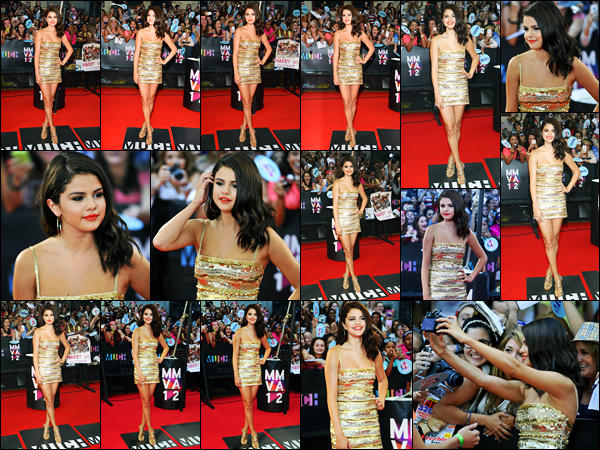 17.06.2012 ─ Selena Gomez était présente lors de la cérémonie des « Much Music Video Awards », dans Toronto.La belle Selena G. a également pris du temps pour posée avec des fans sur le tapis rouge, elle est adorable ! Concernant sa tenue, c'est un beau top !