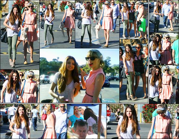 27.06.2012 ─ Selena Gomez a été photographiée alors qu'elle allait déjeuner avec Taylor Swift étant dans Malibu.C'est donc en compagnie de sa BFF que la belle chanteuse a été photographiée.. Elle avait l'air de bonne humeur ! Concernant sa tenue c'est un top !