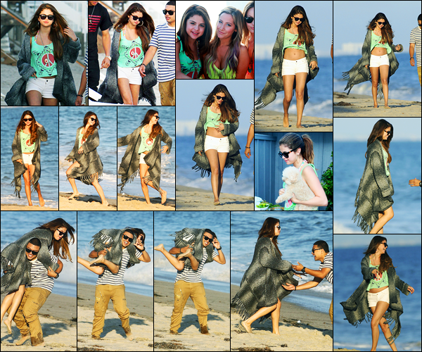 02.07.2012 ─ Selena Gomez a été photographiée alors qu'elle arrivait à l'anniversaire de Ashley Tisdale, à Malibu.La belle Selena G. a ensuite été photographiée pendant l'anniversaire en compagnie des ses amis. Concernant sa tenue, c'est un beau top de ma part.