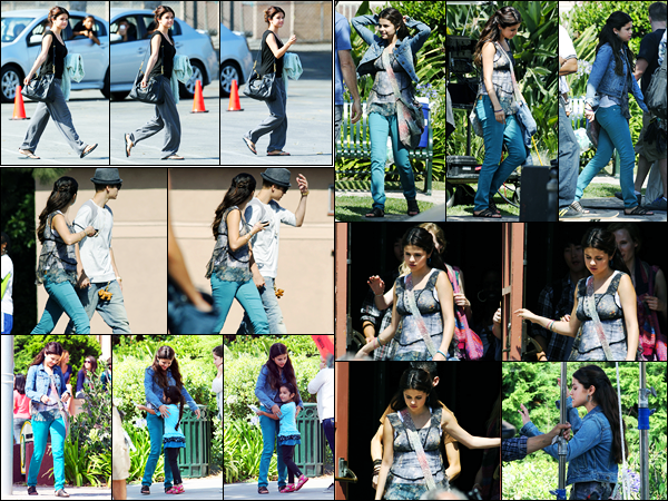 03.08.2012 ─ Selena Gomez a été photographiée alors qu'elle était sur le set « Behaving Badly » à Sherman Oaks.La belle chanteuse a donc commencée le tournage de son nouveau film, en compagnie de l'acteur Nat Wolff. Concernant sa tenue, j'aime beaucoup, top.