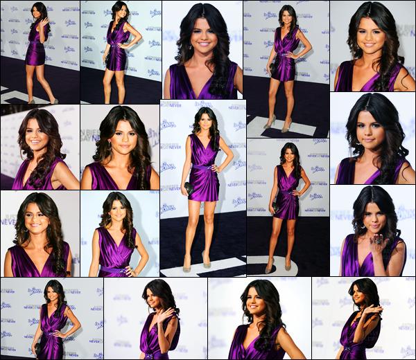 08.02.2011 ─ Selena Gomez était présente lors de l'avant-première de « Never Say Never », étant, à Los Angeles.De nombreuses stars était notamment présente pour l'avant-première du film du chanteur Justin Bieber. Concernant sa tenue, c'est un très beau top !