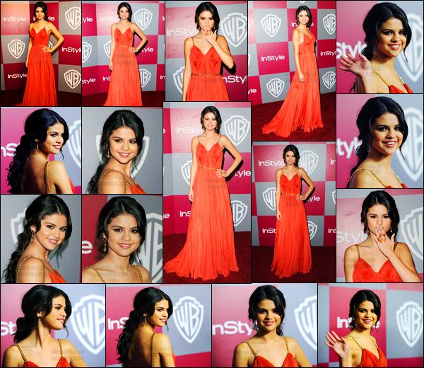 16.01.11 ─ Selena Gomez était présente lors de la cérémonie des « Golden Globes After Party » dans Los Angeles.La belle S. s'est donc rendue à l'after party de la cérémonie dans une très élégante robe rouge... Concernant sa tenue, c'est un beau top de ma part !