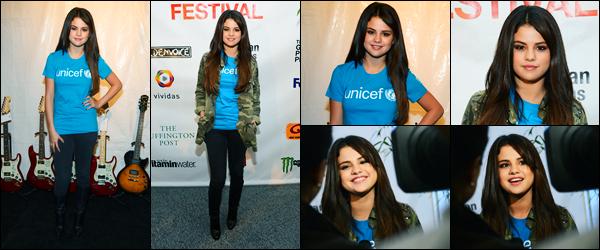 29.09.2012 ─ Selena Gomez était présente lors du « Global Citizen Festival », étant à Central Park à New-York C.Selena Gomez était présente en l'image de l'association l'UNICEF, on peut le voir grâce à son tee shirt... Concernant sa tenue, c'est un top de ma part !