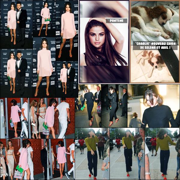 08.09.2017 ─ Selena Gomez était présente lors de la soirée « Harper's Bazaar Icons », étant dans New-York City.Un peu plus tôt dans la journée, la belle a été photographiée dans les rues de New-York, ainsi que le soir... Découvrez une nouvelle photo pour Pantene !
