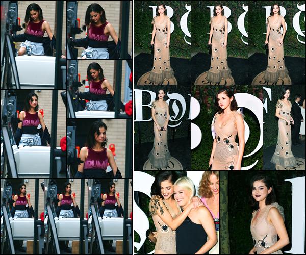 09.09.2017 ─ Selena Gomez était présente lors du gala « Business of Fashion 500 » ayant lieu dans New-York C.Un peu plus tôt dans la journée, la belle a été photographiée sur le set d'un photoshoot. Sel serait la prochaine égérie de la grande marque Puma.. Avis ?