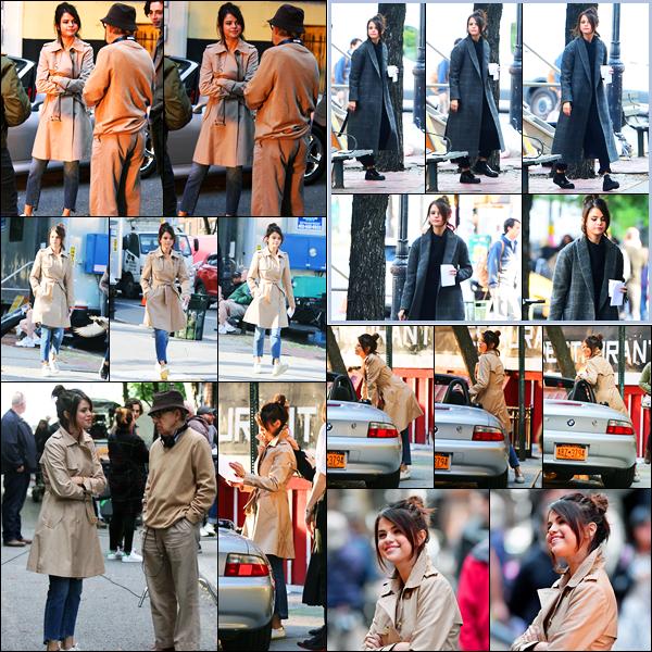11.09.2017 ─ Selena Gomez a été photographiée, alors, qu'elle était sur le set de nouveau film étant à New-York.Comme cela a été annoncée, la belle a commencer le tournage de son prochain film, avec le réalisateur Woody Allen.. Énorme opportunité pour la belle !
