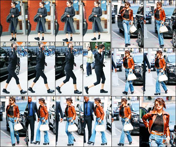 12.09.2017 ─ Selena Gomez a été photographiée, alors, qu'elle quittait son appartement, étant dans New-York C.Plus tard dans la journée, la belle S. a été photographiée alors qu'elle se rendait au défilé de la marque « Coach ». Concernant ses tenues, sont des tops.